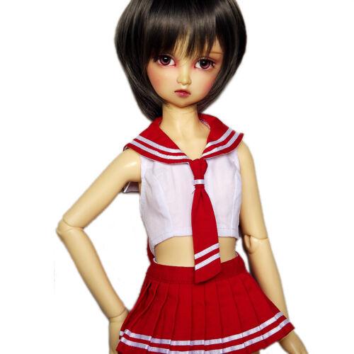 251# Red//Blue School Uniform//Suit// 1//4 MSD 1//3 SD DZ AOD BJD Doll Dollfie PF