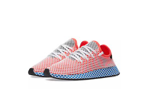 New Adidas Originals Deerupt Uomo Running Shoes - Solar Red Bluebird CQ2624 10