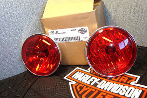 Lamps-Pursuit-Harley-red-Halogen-2-68727-09-Fits-Touring-FLHTP-2009-2014-J5
