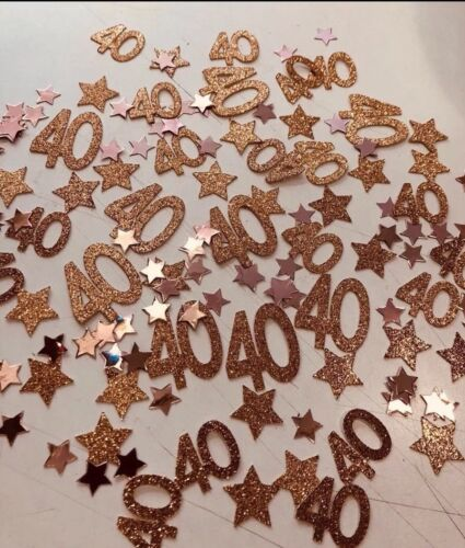 Tableware Rose Gold Table Confetti 40 Various Colours Birthday Any Age