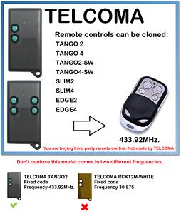 TELCOMA TANGO 4 Remote Control Duplicator 433.92 MHz. TELCOMA TANGO 2