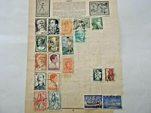 Old-Greece-amp-GB-QEII-Wilding-Definitives-Stamps-Collection-on-Loose-Album-Sheet