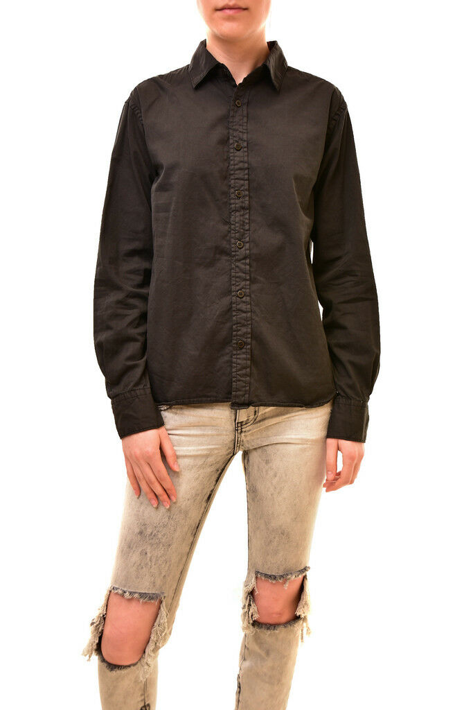 One Teaspoon Damen Authentic Classic Style Shirt Schwarz Größe S UVP   125 BCF84