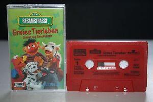 SESAMSTRASSE-Ernies-Tierleben-Lieder-und-Geschichten-MC-Kassette-EUROPA-Mini