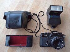 Ricoh KR-5 + Riconar 1:2 .2 55mm + Flash Ricoh XR300 Speedlite 300P + Estuche