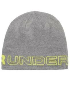Under Armour Wordmark Beanie Gray Mens One Size New 191480372234  70a62f1d4001