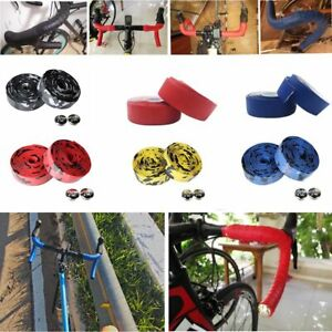 Camo Mountain Road Handlebar Wrap Tape Bike Handle Belts with 2 Bar Plugs