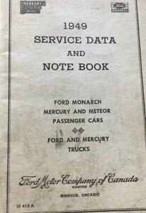 1949-Service-Data-And-Note-Book-Ford-Monarch-Mercury-amp-Meteor-Canada-Ford-E27
