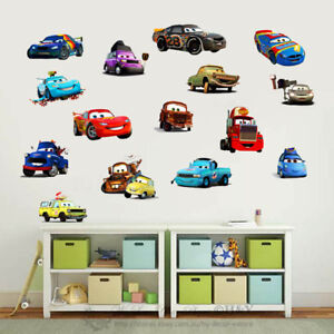 Disney cars collection kids wall stickers nursery decor boys vinyl decal gift ebay for Disney wall stickers for kids bedrooms