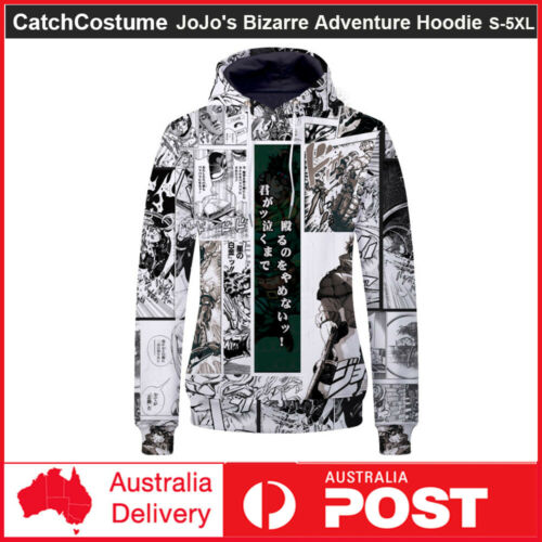 JoJo/'s Bizarre Adventure Hooded Sweatshirt Sweater Casual Hoodie Pullover Coat