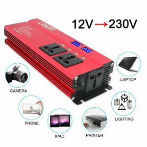 Modified 2000w 4000w 12v To 240v Car Power Converter Inverter Charger 2 Usb Cn Wechselrichter