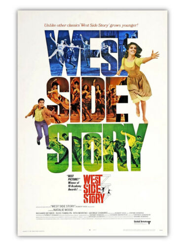 West Side Story Natalie Wood Musical Movie Vintage-Style 12x18 Poster 1961