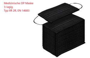 100 x Medizinische OP Maske Mund Nasen Schutz TYP IIR 2R EN14683 Mundschutz Neu
