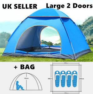 Waterproof Auto Pop Up Tent 4 Man Person Family Tent Portable BAG Outdoor Travel