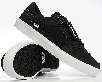 Supra Men's Vaider LC Skate Shoes Black White S86001 Medium (D, M) 8.5