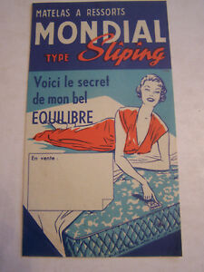 Publicite Matelas A Ressorts Mondial Type Sliping 4 Pages Ebay