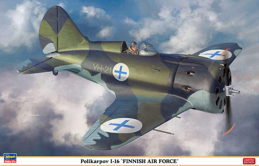 Hasegawa 1/32 Polikarpov I-40.6cmfinnish Aeronautica   08254