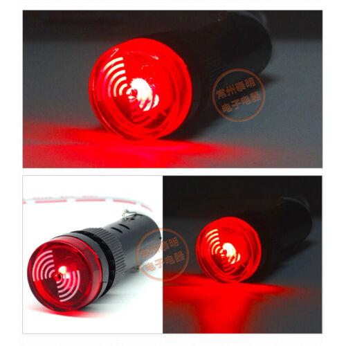 16mm Red LED Warning Indicator Lamp Buzzer Alarm Panel Signal Light 12V 24V 220V