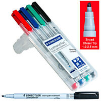 Staedtler Lumocolor 312wp4 Non-permanent Markers, 1.0-2.5mm Broad, 4 Color Set