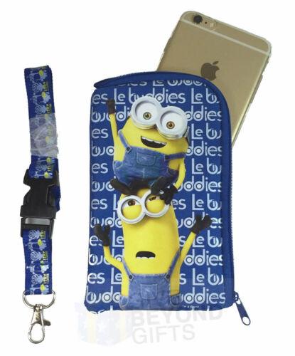 Minions Illumination Royal Blue Lanyard ID Ticket Badge Key Chain Iphone Holder