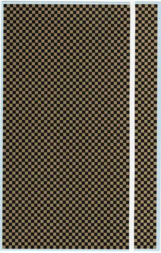 C-075 Decalbogen schwarz//gold kariert 1:18-24-32-43