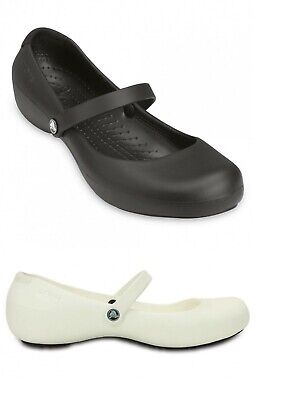 Crocs Womens Alice Mary Jane Work Flat Shoes