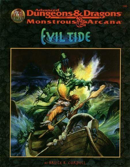 AD&D - EVIL TIDE 9542 avventura TSR monstrous arcana