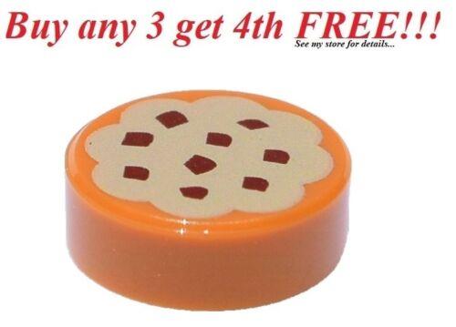 ☀️NEW LEGO Minifig 1x1 Round Cookie Tan Flat tile Minifigure Kitchen Food Bakery