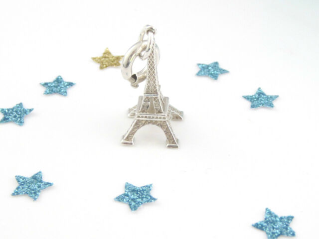 Tiffany & Co Silver Eiffel Tower Paris CIRCLE Clasp Charm 4 Necklace Bracelet