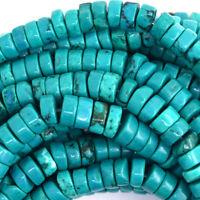 "6mm green turquoise heishi beads 16"" strand S2"