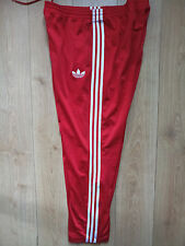 Adidas Originals 90's Vintage Mens Tracksuit Pants Old School Red White Hip Hop