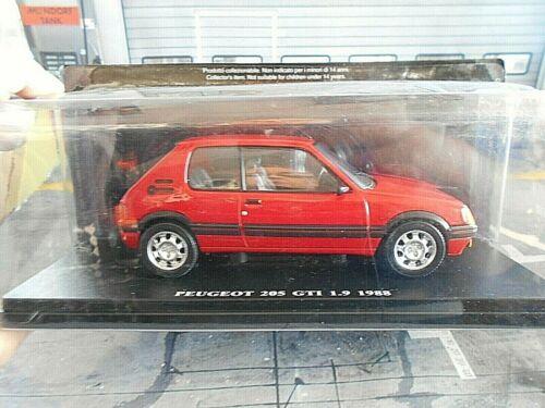PEUGEOT 205 GTI 1,9 red rot Sport 1988 Fabbri Sonderpreis 1:24