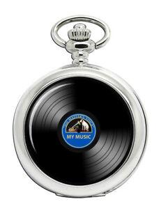 Dj-Record-Blue-Label-Taschenuhr