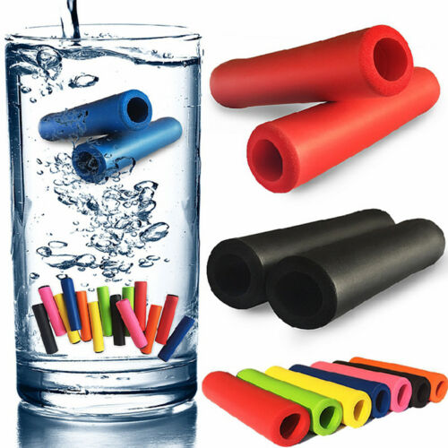 1Pair Bicycle Grips Silicone Sponge Handlebar Grips Soft Ultraight Bar Cover