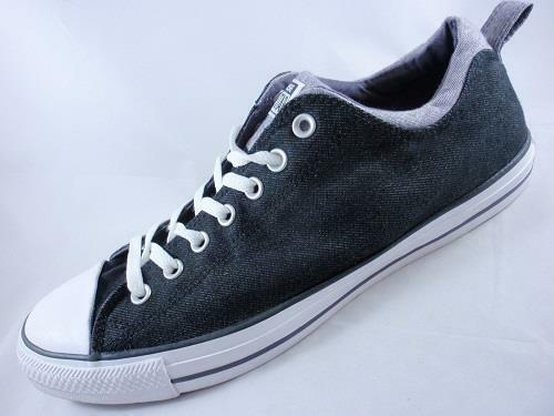 CONVERSE Chuck Taylor All Star Black Canvas Unisex Sneakers Low Top 143867F New
