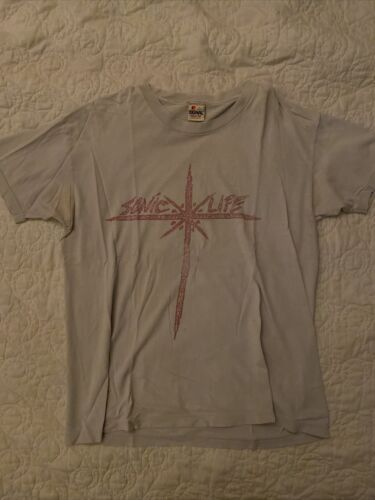 """Vintage 1985 Sonic Youth """"Sonic Life"""" T-Shirt Sign"""