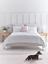 thumbnail 1 - Cox & Cox Stylish Soft Grey Pillow Velvet Super King Bed - RRP £1050