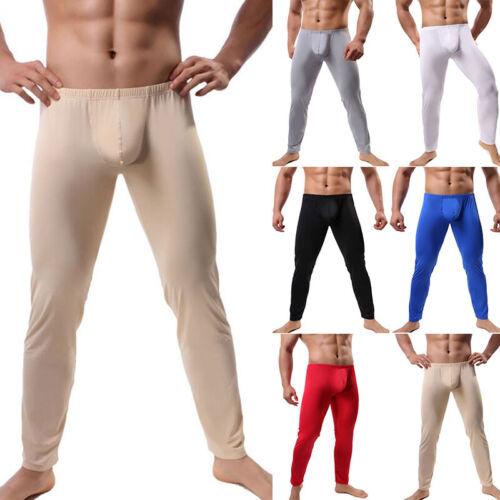Herren Thermal Skinny Bleistift Ausbuchtung Lange Unterhosen Hose Pyjama Leggins