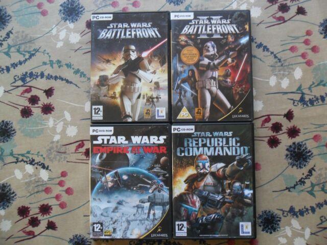 Star Wars Battlefront 1 & 2 Empire at War Republic Commando (PC: Windows, 2005)