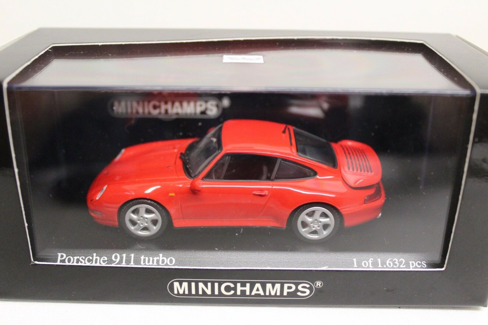 Minichamps Porsche 911 Turbo 993 Rouge Indien 1995 1 43 NEUF Limited Edition Indian