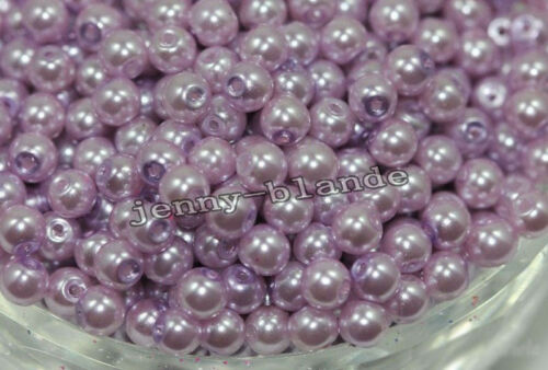 20//50//100X Glass Pearl Round Spacer Loose Beads Fit Necklace Bracelet 4//6//8//10mm