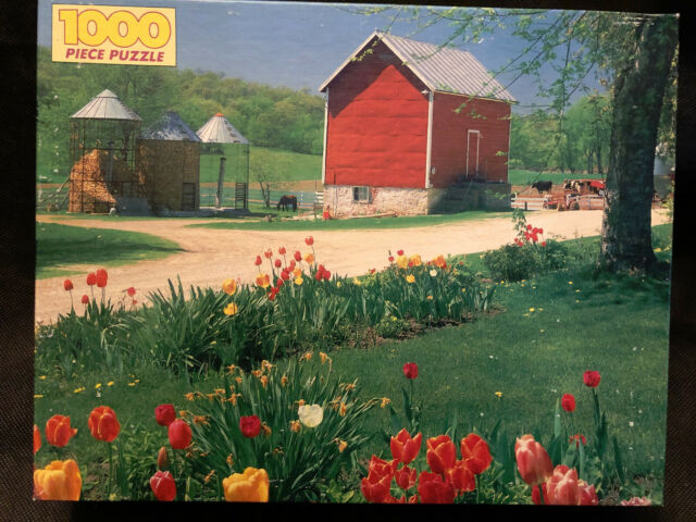 "Golden Puzzle 1000 Pcs COUNTRY GARDEN 21.5"" X 27.5"" Barn ..."