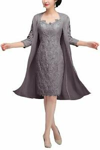 Details about Lace Mother Of The Bride Dresses Jacket Formal Gowns Plus  Size 0 4 6 8 10 12 14