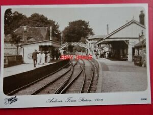 POSTCARD-RP-ANDOVER-TOWN-RAILWAY-STATION-1908
