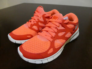 Nike womens 443816 806 Free Run +2 new shoes Mango size 5
