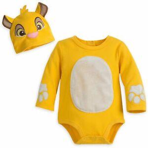Disney Store Simba Baby Bodysuit Costume Dress Up Lion King 6-9mos or 18-24mos