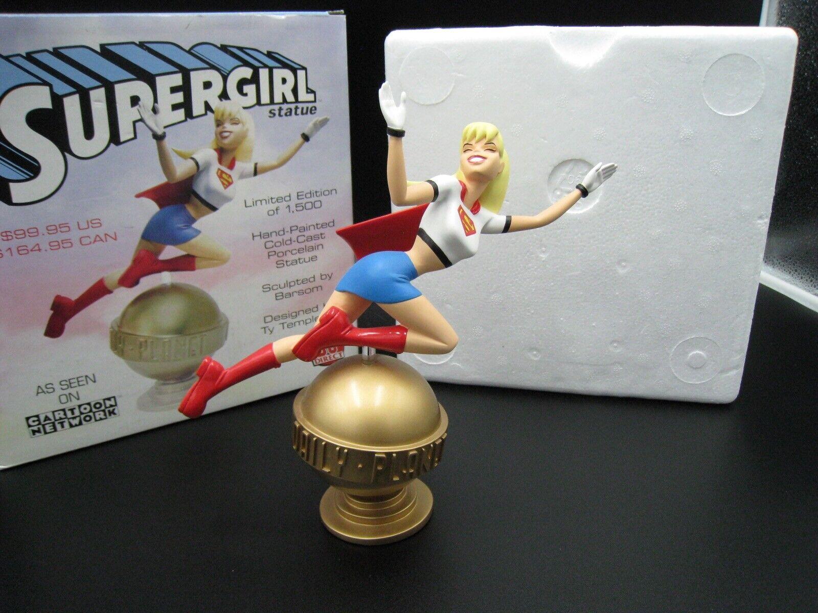 DC súpergirl Estatua-súperman el Direct Serie Animada-como Nuevo