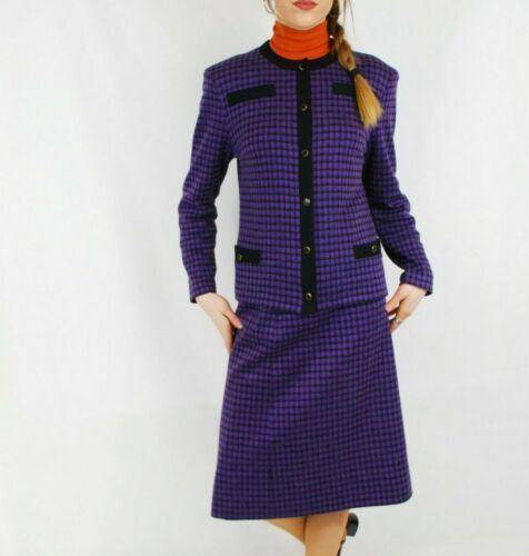 Vintage 80s Checked Clueless 2 Piece Skirt Blazer… - image 1