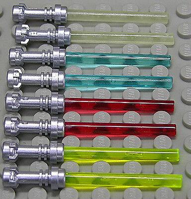LEGO - 8 x Laserschwert Lichtschwert Griff silber in 4 Farben / 64567 NEUWARE