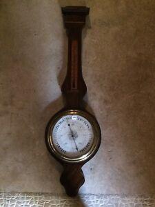 Baromètre Thermomètre En Palissandre Et Filets De Buis 19 E H 90 3Lfs1IAg-07203411-357005376